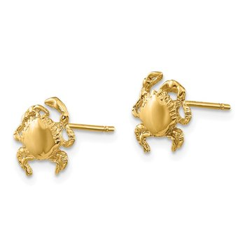 14k Crab Earrings