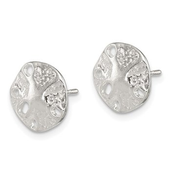 Sterling Silver Sand Dollar Mini Earrings