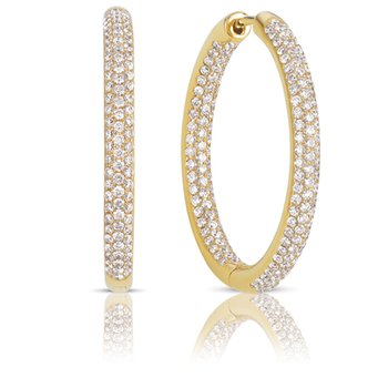 Hoop Pave Earrings