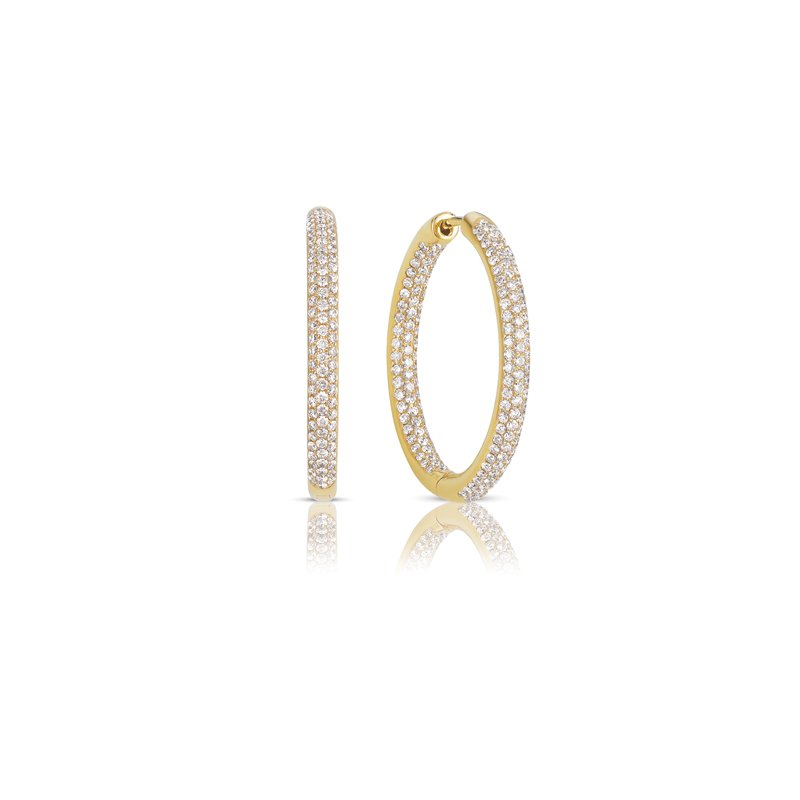 S. Kashi  & Sons Hoop Pave Earrings