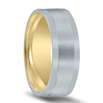 Men's Unique Inside Out Wedding Band - XNT16968