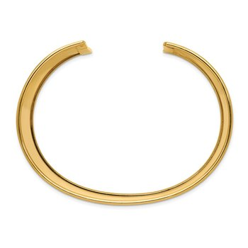 14k 47mm Polished Cuff Bangle