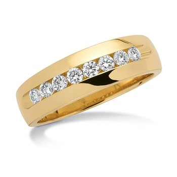 Channel set Diamond Men's 14k Yellow Gold Band (1/4 ct. tw.)