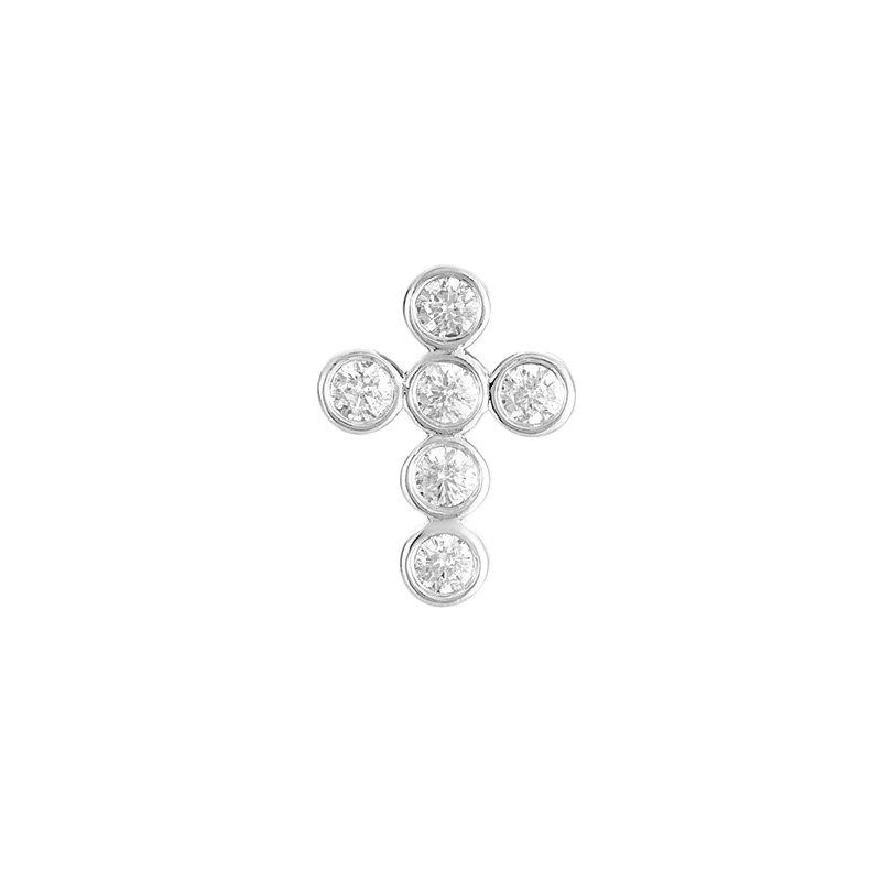 S. Kashi  & Sons Diamond Cross Pendant 18mm
