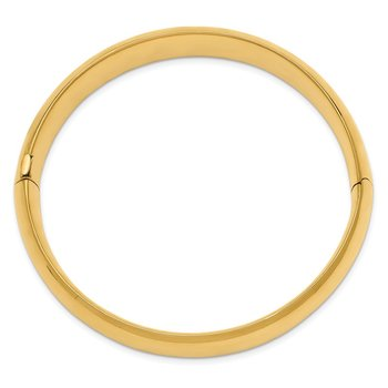 14k 9/16 Oversize High Polished Hinged Bangle Bracelet