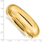 Quality Gold 14k 11/16 Oversize High Polished Hinged Bangle Bracelet