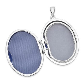 Sterling Silver 33mm Oval Locket