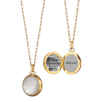Petite Mother of Pearl Locket
