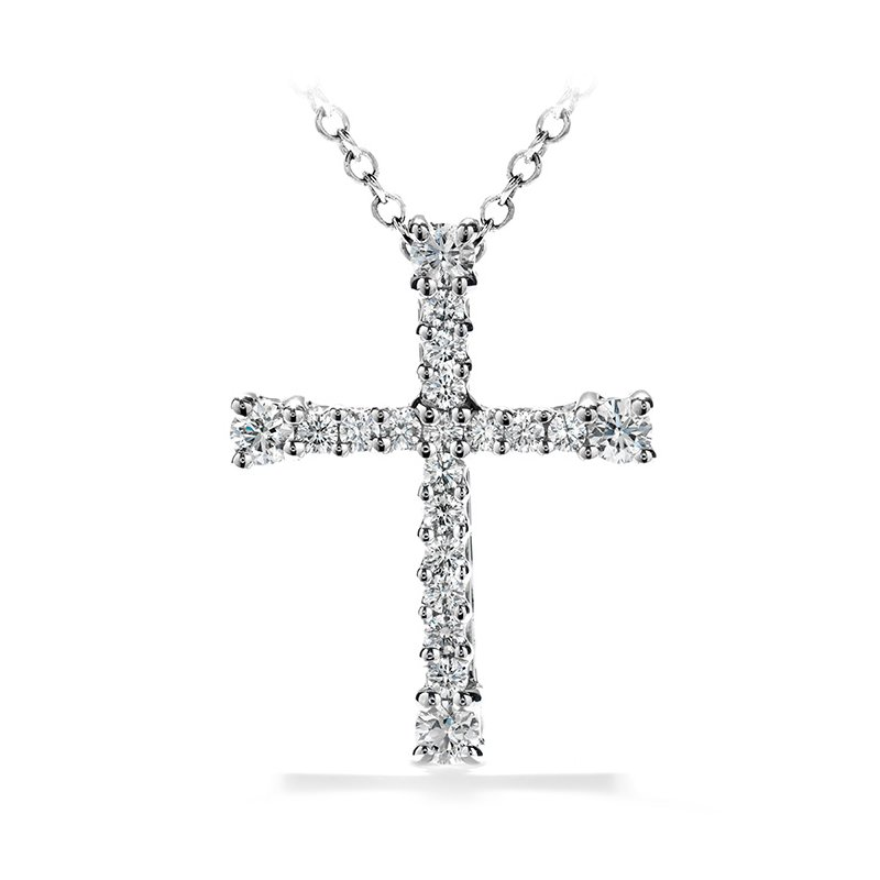 Hearts on Fire 0.5 ctw. Divine Cross Pendant Necklace