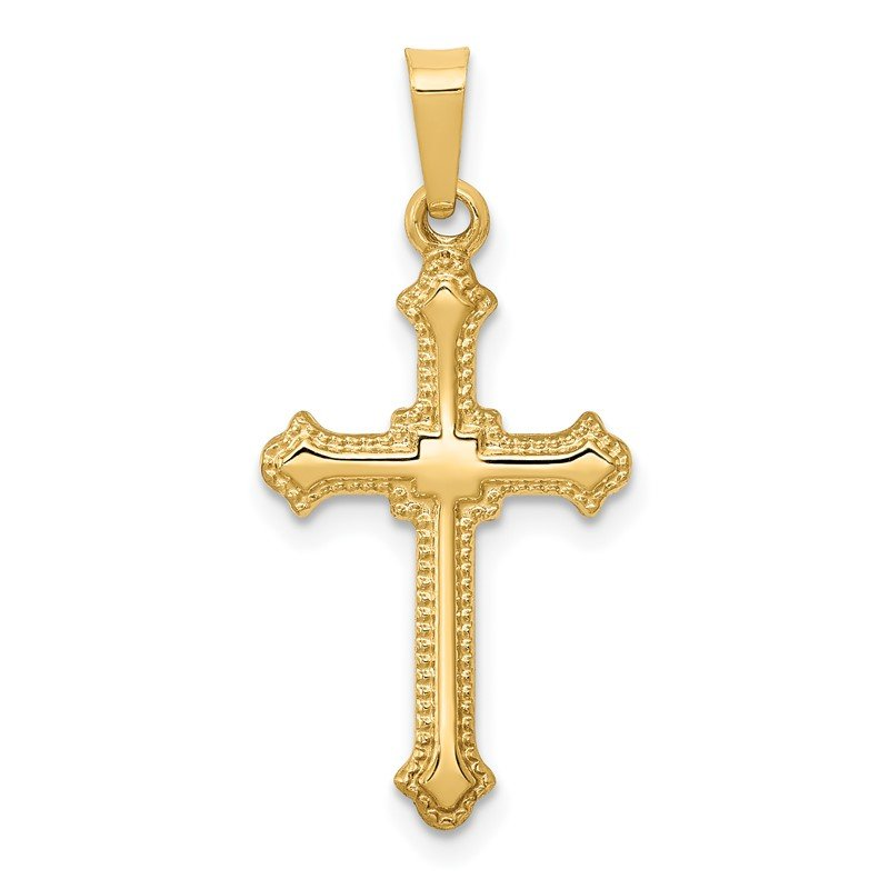 Arizona Diamond Center Collection 14k Polished Fleur de Lis Cross Pendant