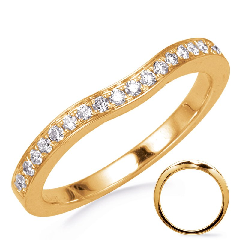 S. Kashi & Sons Bridal Yellow Gold Curved Band