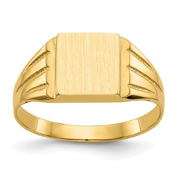 14k 9.0x8.0mm Open Back Signet Ring