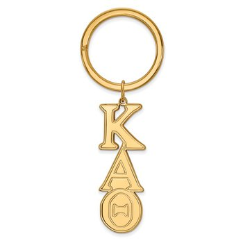 Gold-Plated Sterling Silver Kappa Alpha Theta Greek Life Key Chain