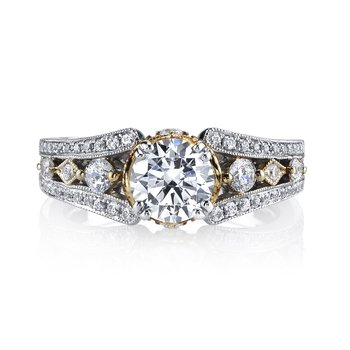 MARS 26048TT Diamond Engagement Ring 0.46 Ctw.