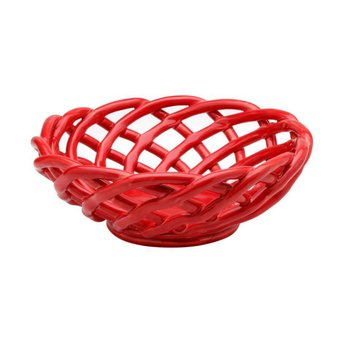 Medium Round Basket, Red