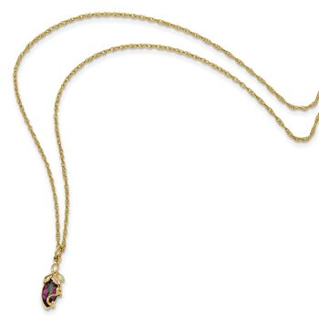 10k Tri-color Black Hills Gold Mystic Topaz Necklace
