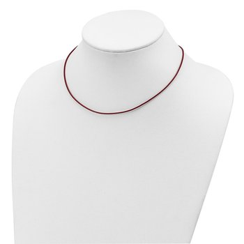 Sterling Silver 16inch 1.5mm Poppy Leather Cord Necklace