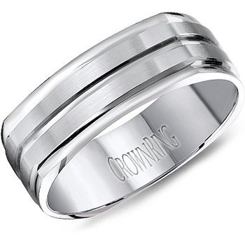 CrownRing Men's Wedding Band WB-8092