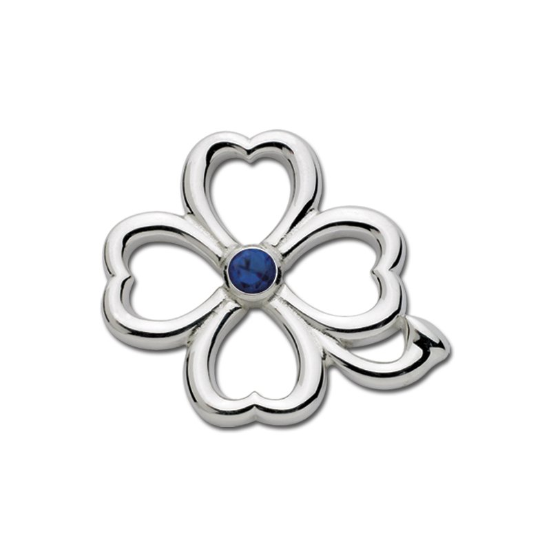 Lestage Four Leaf Clover Convertible Clasp-September Birthstone