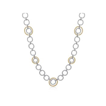 Yellow & Grey Cable Interlock Necklace