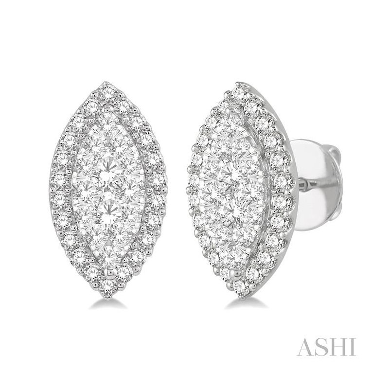 Crocker's Collection marquise shape lovebright diamond earrings