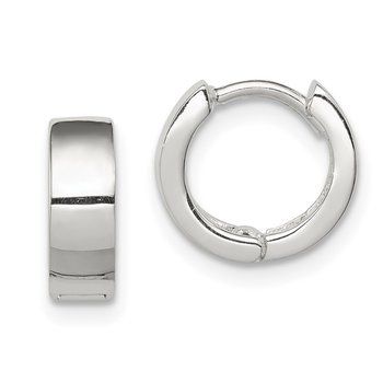 Sterling Silver Hinged Hoop Earrings