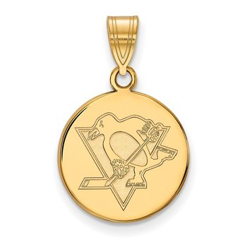 Gold-Plated Sterling Silver Pittsburgh Penguins NHL Pendant