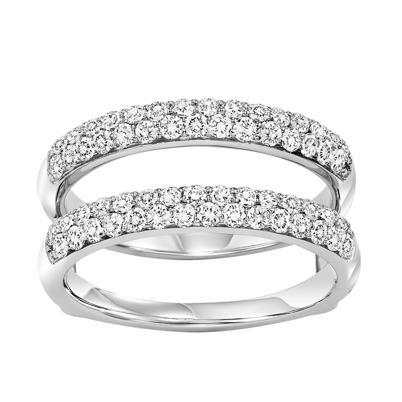 Bridal Bells 14K Diamond Insert Ring 1 ctw