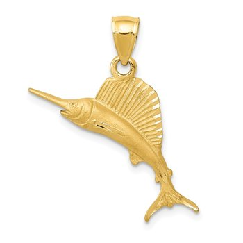14K Sailfish Pendant