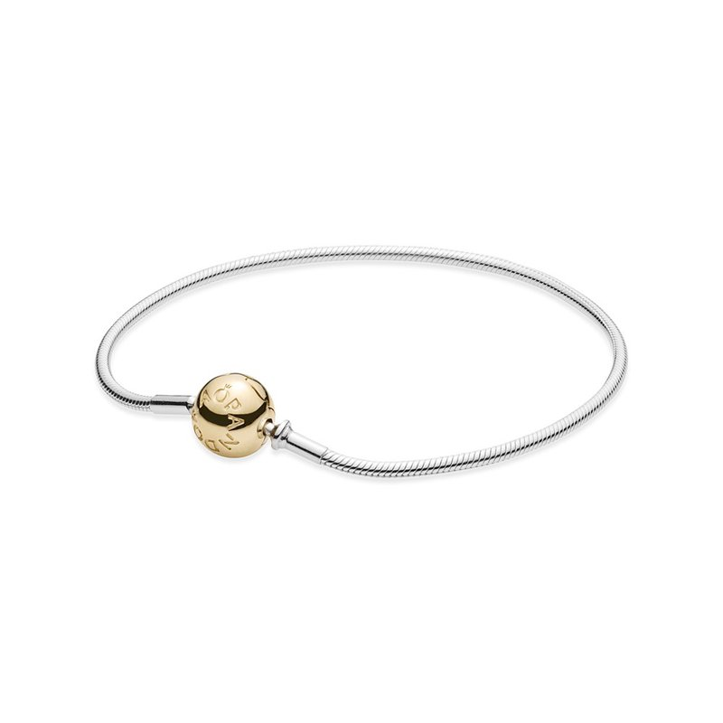PANDORA Essence Collection Sterling Silver Bracelet With 14K Gold Clasp