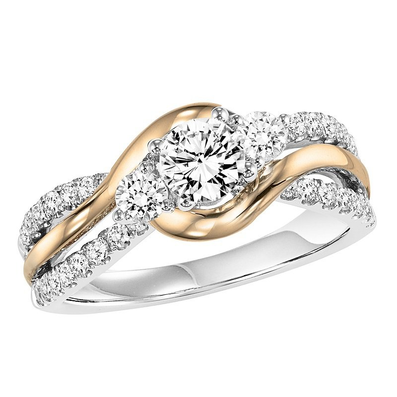 Bridal Bells 14K Diamond Engagement Ring 5/8 ctw with 3/8 ct Center