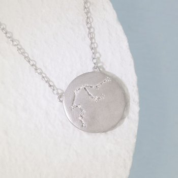 Aquarius Sterling Silver Zodiac Necklace