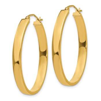 14k Lightweight Oval Hoop Earrings