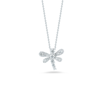 18Kt Gold Dragonfly Pendant With Diamonds