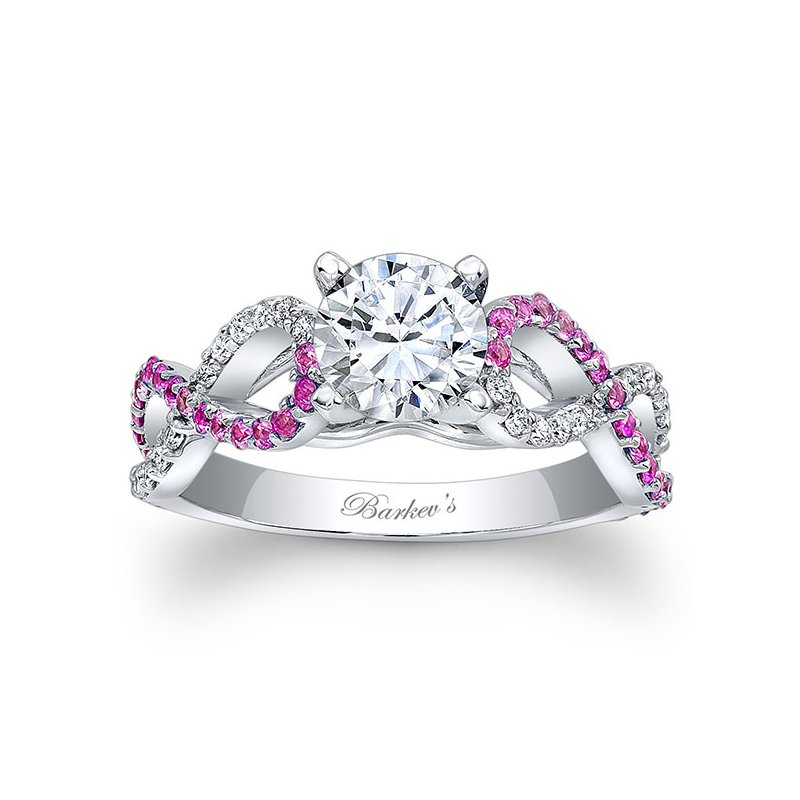Barkev's Engagement Ring With Pink Sapphires