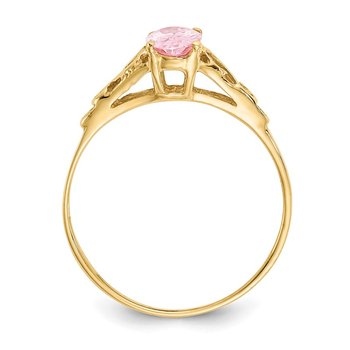 14k Madi K Synthetic Rose Zircon Ring