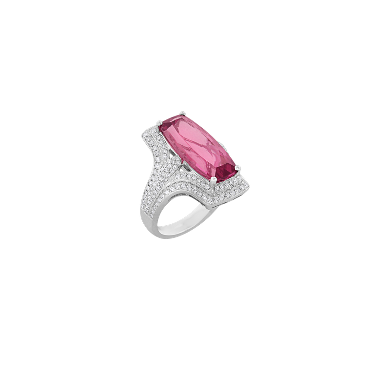 Spark Creations Pink Tourmaline & Diamond Ring