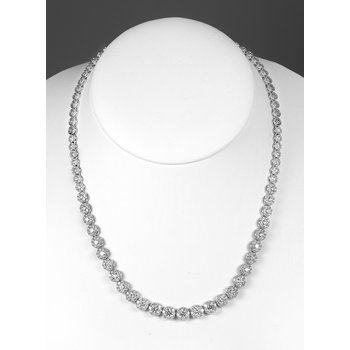 18K WG Diamond Necklace Sunrise Collection Graduated