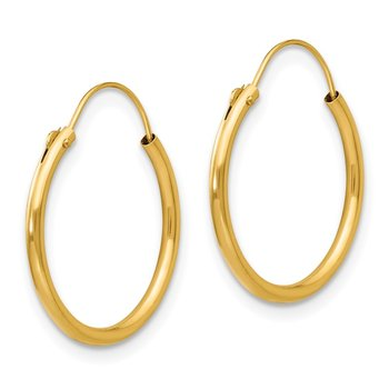 14k Madi K Hoop Earrings