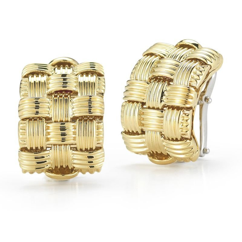 Roberto Coin 3 Row Earrings