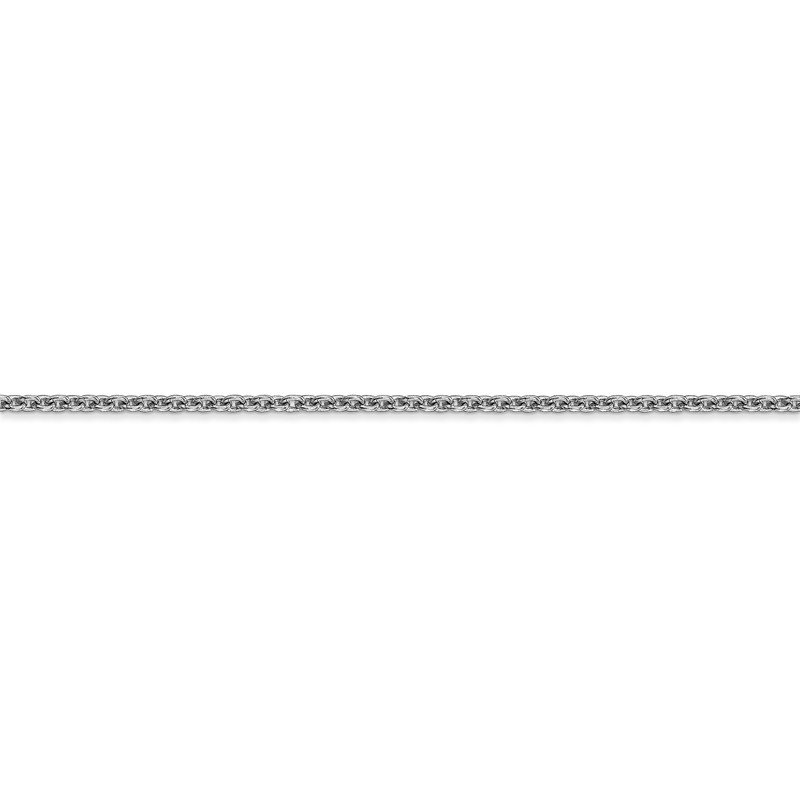Leslie's Leslie's 14K White Gold 1.8mm Round Cable Chain