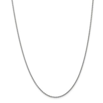 Leslie's 14K White Gold 1.8 mm Round Cable Chain