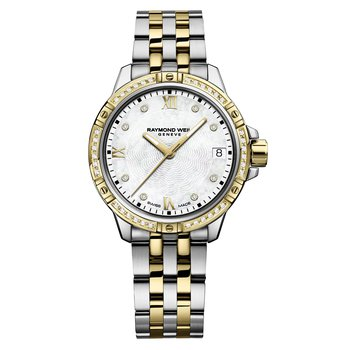 Ladies Quartz Date Watch, 30mm Two-tone, 44 diamonds