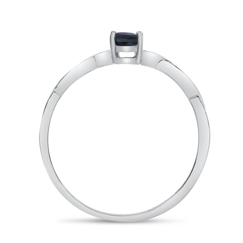 Color Merchants 14k White Gold Oval Sapphire Ring