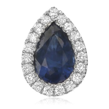 Pear-shaped Sapphire Halo Earrings