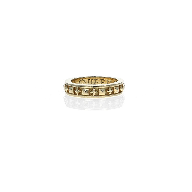 King Baby 18K Stackable Studded Ring W/ Mb Crosses