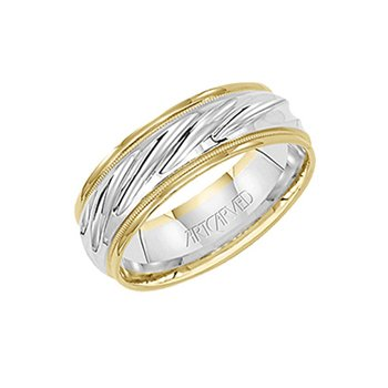 "14K Two-Tone Gold ""Wonderous"" Comfort Fit Wedding Band"