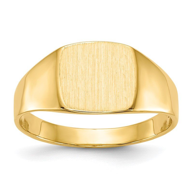 Quality Gold 14k 8.5x9.0mm Closed Back Signet Ring