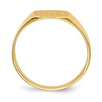 14k 8.5x9.0mm Closed Back Signet Ring