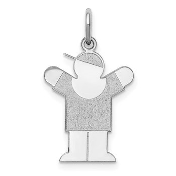 Sterling Silver Rhodium-plated Love Kid Charm
